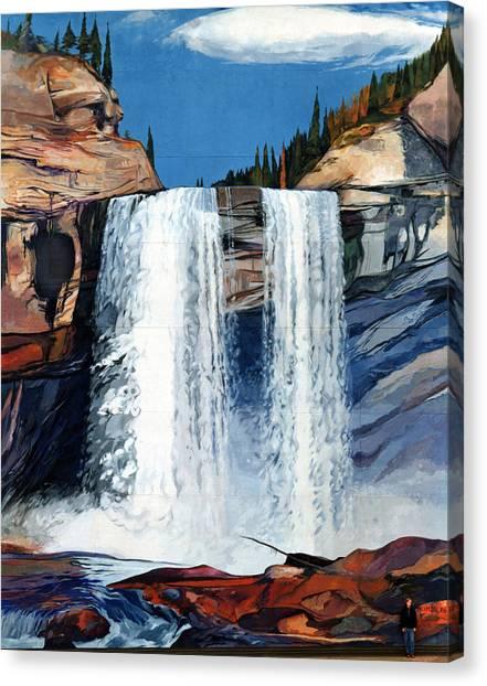 Kakwa Falls Mural Canvas Print