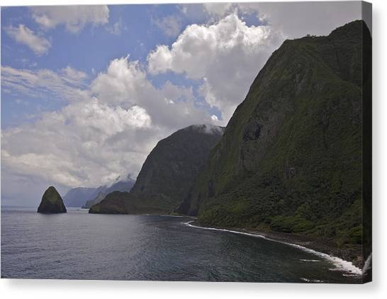 Kalaupapa Cliffs Canvas Print - Kalawao Lookout by Brian Governale