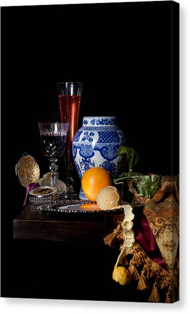 Kalf - Still Life With A Chinese Porcelain Jar  Canvas Print