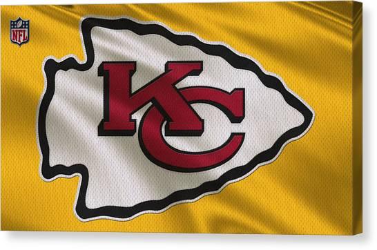 Kansas City Chiefs Canvas Print - Kansas City Chiefs Uniform by Joe Hamilton