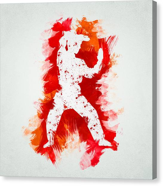 Karate Canvas Print - Karate Fighter by Aged Pixel
