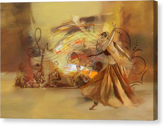 Kathak Dancer 4 Canvas Print