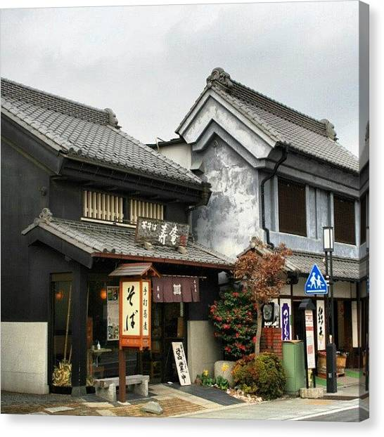 Keg Canvas Print - #kawagoe #japan #zen #edo #jpnaesthetic by Jason Emmett