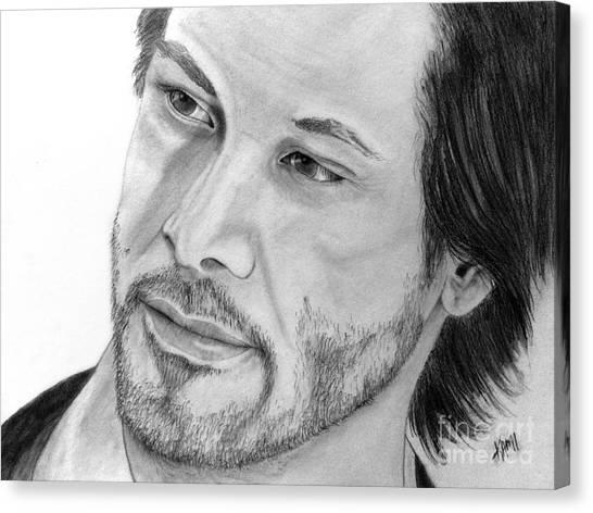 Keanu Reeves Canvas Print - Keanu Reeves by Kami Catherman