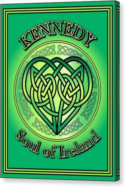 Kennedy Soul Of Ireland Canvas Print