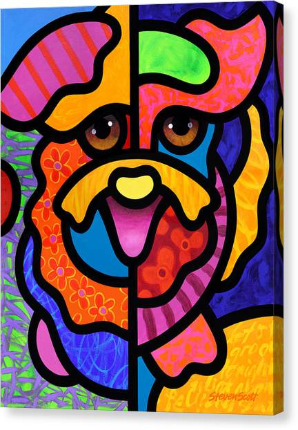 Happy Dog Canvas Print