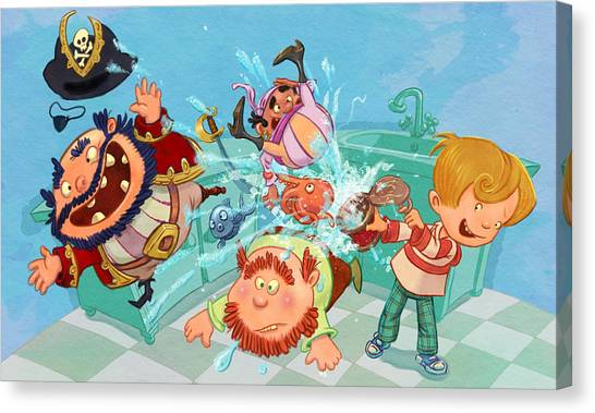 Kitchen Pirates Canvas Print