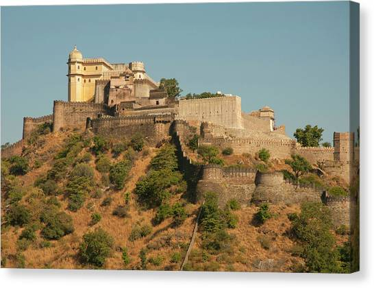 Fortification Canvas Print - Kumbhalgar Fort, Kumbhalgarh by Inger Hogstrom