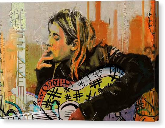 Nirvana Canvas Print - Kurt Cobain by Corporate Art Task Force