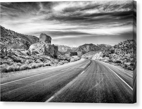 Canvas Print featuring the photograph Kyle Canyon Road by Howard Salmon