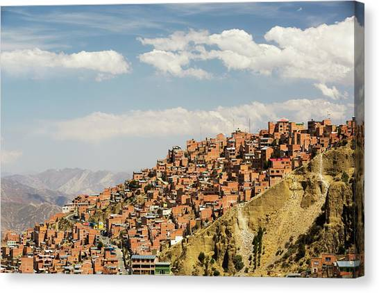 Bolivian Canvas Print - La Paz by Ashley Cooper/science Photo Library