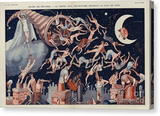 La Vie Parisienne 1927 1920s France Canvas Print by The Advertising Archives