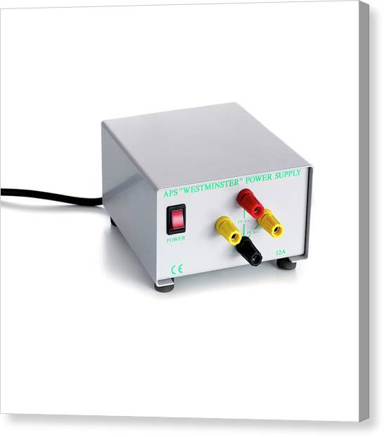 Ac Dc Canvas Print - Laboratory Ac Dc Power Supply by Science Photo Library
