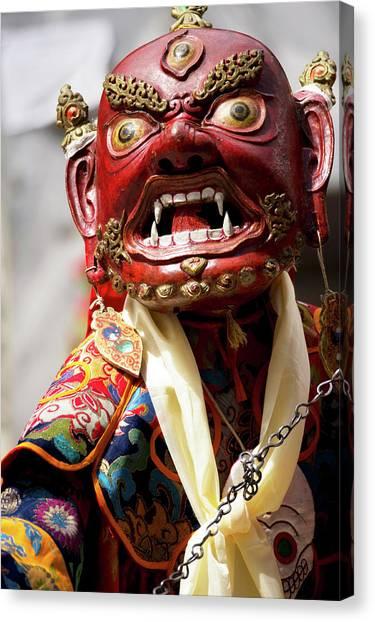 Karakoram Canvas Print - Ladakh, India The Ceremonial Masked by Jaina Mishra