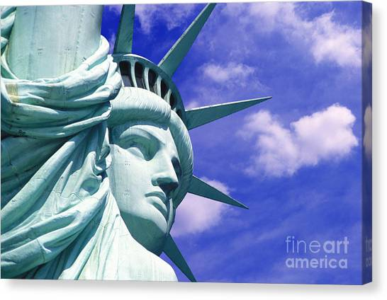 Central Park Canvas Print - Lady Liberty by Jon Neidert
