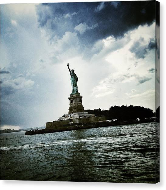 New York City Canvas Print - Lady Liberty by Natasha Marco