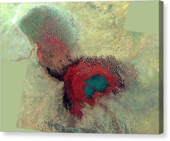 Nigeria Canvas Print - Lake Chad by Nasa/science Photo Library