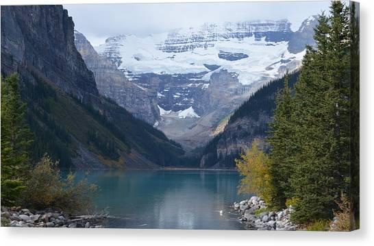 Lake Louise In Fall Canvas Print
