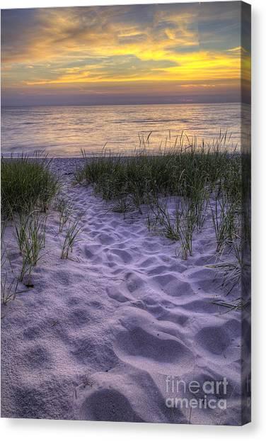 Northern Michigan Canvas Print - Lake Michigan Sunset by Twenty Two North Photography