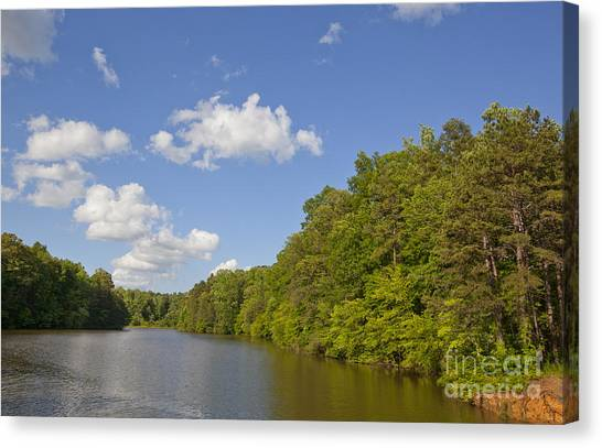 Lake Norman Cove Canvas Print by Jonathan Welch