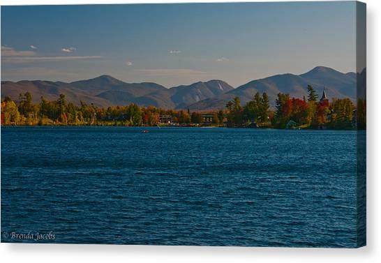 Lake Placid And The Adirondack Mountain Range Canvas Print