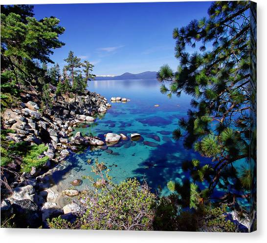 Lake Tahoe Swimming Hole Canvas Print