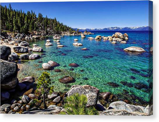 Blue Sky Canvas Print - Lake Tahoe Waterscape by Scott McGuire