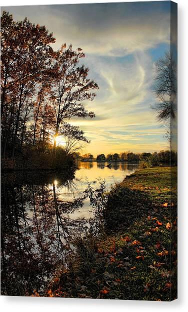 Lake Wausau Sunset Canvas Print