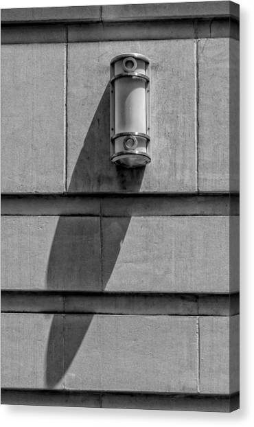 Lamp And Shadow Canvas Print by Robert Ullmann