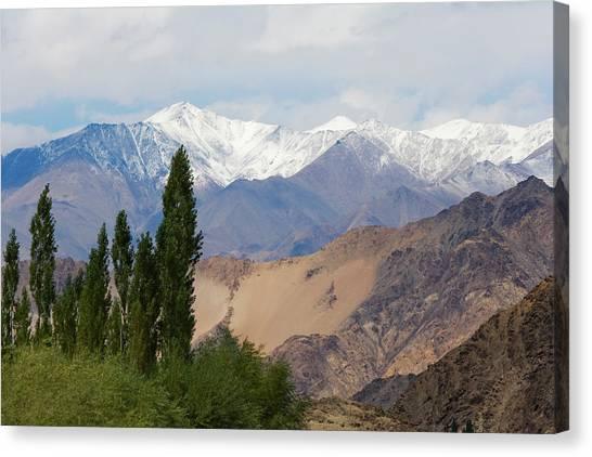 Himalayas Canvas Print - Landscape Of The Himalayas, Ladakh by Keren Su