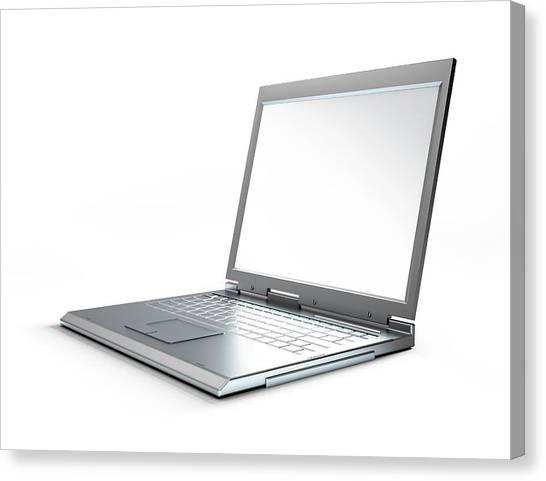 Laptop Computer, Artwork Canvas Print by Leonello Calvetti