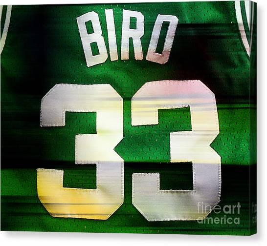 Larry Bird Canvas Print - Larry Bird by Marvin Blaine