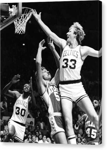 Indiana Pacers Canvas Print - Larry Bird by Retro Images Archive