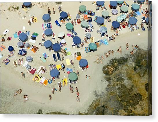 Las Salinas Beach, Ibiza Canvas Print by Xavier Durán