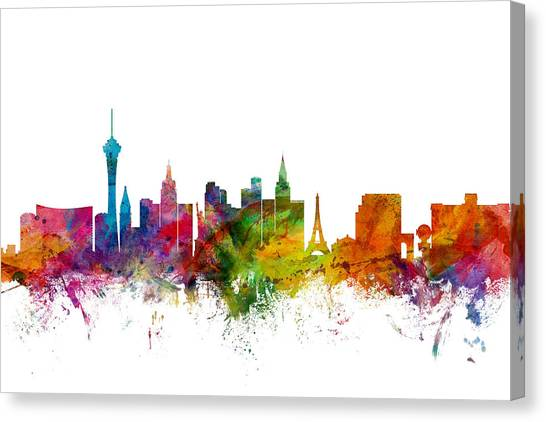 Las Vegas Nevada Skyline Canvas Print