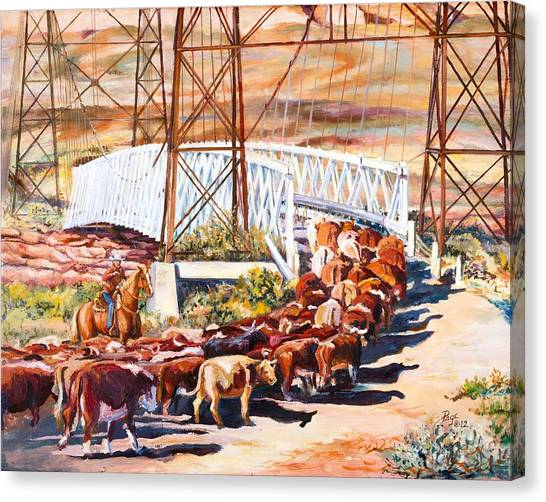 Last Drive Over Dewey Bridge Canvas Print