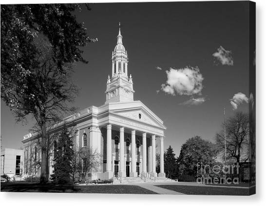 University Of Wisconsin - Madison Canvas Print - Lawrence University Memorial Chapel by University Icons