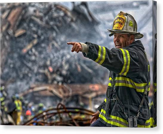 Nyfd Canvas Print - Leading Through Chaos by Mountain Dreams