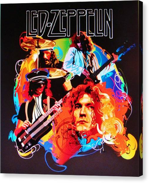 Robert Plant Canvas Print - Led Zeppelin Art by Donna Wilson
