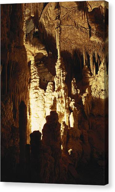 Limestone Caves Canvas Print - Lehman Caves by Richard W Brooks