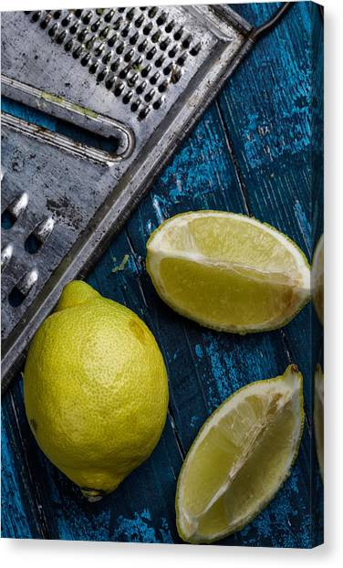 Limes Canvas Print - Lemon by Nailia Schwarz