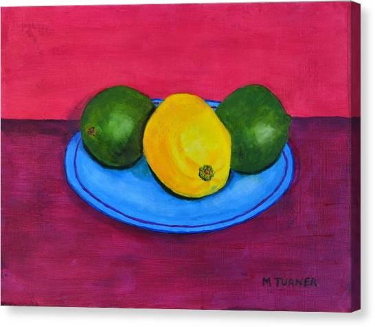 Lemon Or Lime Canvas Print