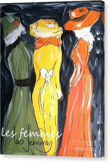 Les Femmes Canvas Print