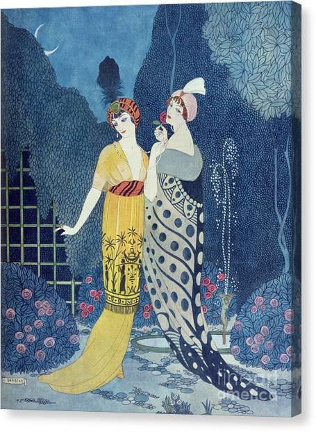 Elegant Canvas Print - Les Modes by Georges Barbier