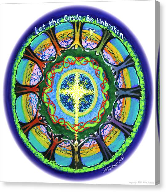 Canvas Print featuring the painting Let The Circle Be Unbroken by Jeanette Jarmon