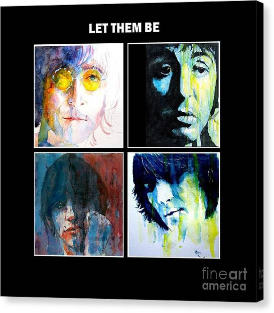 Ringo Starr Canvas Print - Let Them Be by Paul Lovering