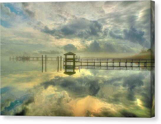 Levitating Dock Canvas Print