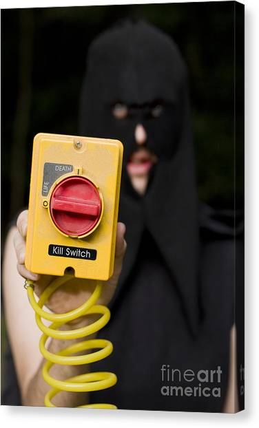 Life-threatening Canvas Print - Life And Death Kill Switch Executioner by Jorgo Photography - Wall Art Gallery
