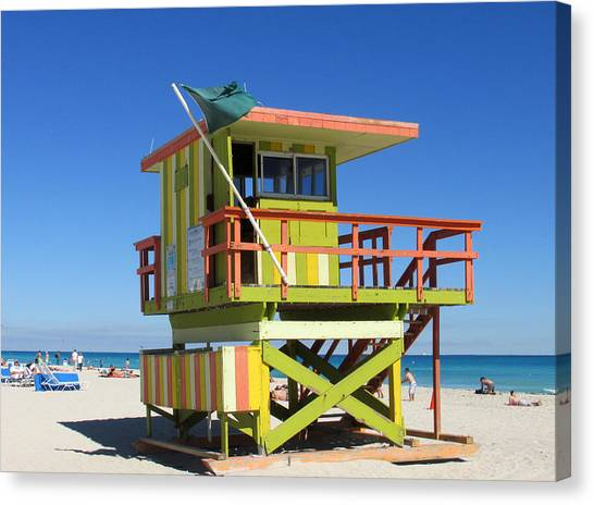 Lifeguard Stand Canvas Print by Rosie Brown