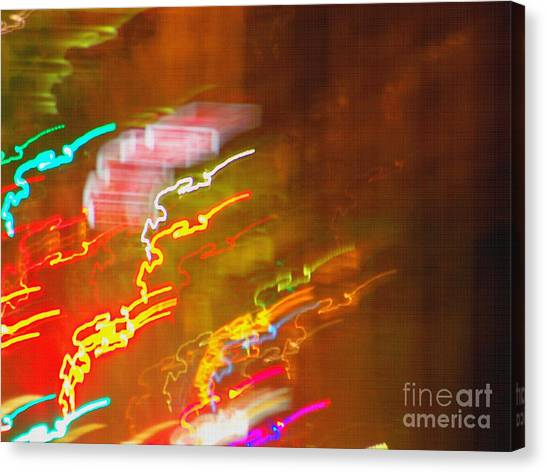 Light Painting - Paris - France  Canvas Print by Francoise Leandre